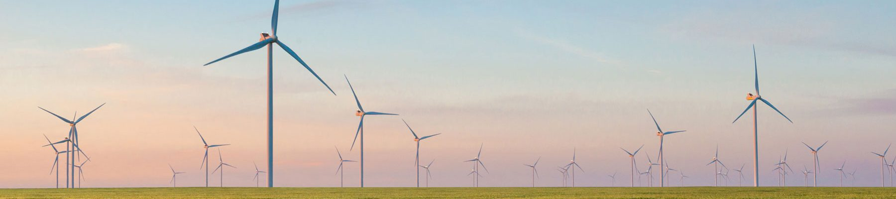 Online Master of Energy and Environmental Management image of wind turbine natural resources energy field.